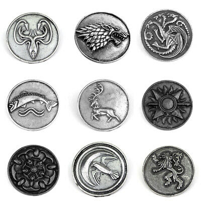 Game of Thrones Brooch GOT Pin Winter is Coming Stark Lannister Dragon Targaryen