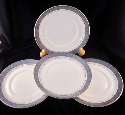 Royal Doulton Bone China Sherbrooke Saucers Only for Flat Cups -Set of 4 - H5009