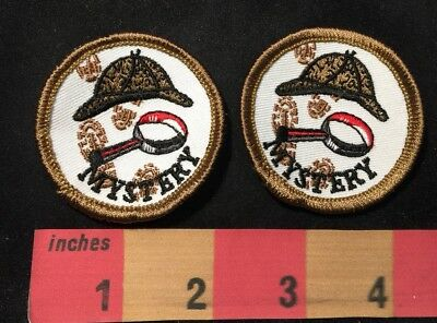 2 Patches In Lot 00AB Book Genre Librarian MYSTERY Patch Literary