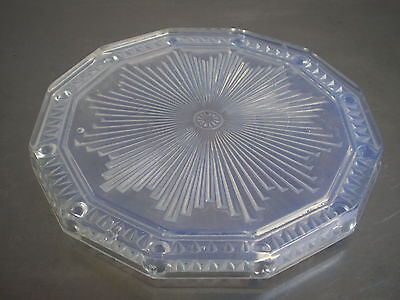 Table Mat Glass Opalescent st Sabino Molded Press 1930 Art Table