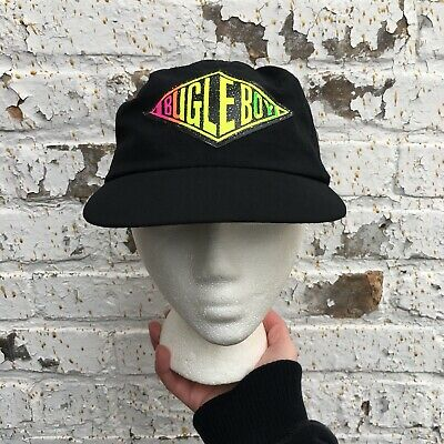 Vintage Bugle Boy Neon Hat Diamond Logo 80's 90's Hip Hop Rap