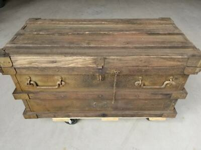 Antique 1800's Railroad GOLD RUSH Gold Bullion Strong Box by Vanderman Mfg 1897