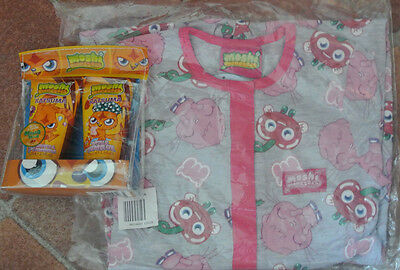 New Moshi Monster sleepover set 100% cotton all in one and shower set. 5-6 years