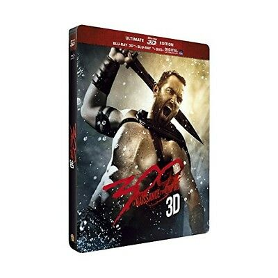 "300 ""Coffret Steelbook 3D"" - Bluray 3D + 2D + Dvd - Neuf Sous Blister"
