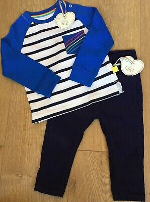 Little Bird By Jools Oliver Age 9-12 Months Cord Trousers & Striped Top Bnwt