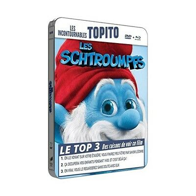 "Les Schtroumpfs ""Edition Steelbook"" - Bluray + Dvd - Neuf Sous Blister"