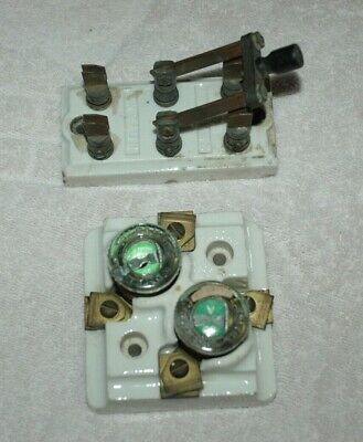 PORCELAIN, KNIFE SWITCH & HOUSE MAIN LINE 30 Amp. FUSE HOLDER-BRYANT & GE-NICE !