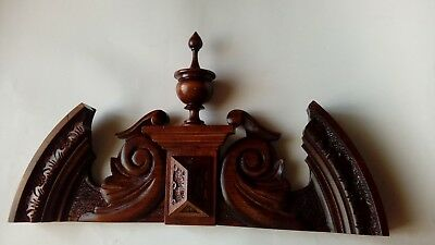 CROWN WOODEN TO THE CLOCK GERMAN VIENNA LENZKIRCH REGULATOR BECKER No.65
