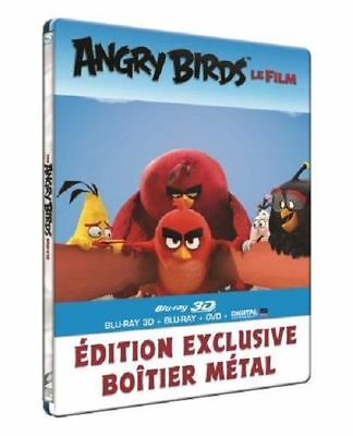 """Angry Birds """"Le Film""""- Steelbook Bluray 3D + 2D + Dvd - Neuf Sous Blister"""