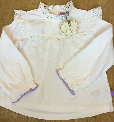 Little Bird By Jools Oliver Girls Frill Detail Long Sleeve Top Age 4-5 Years 🍄