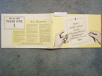 1939 Packard Brochure Cordially Invites You To Judge