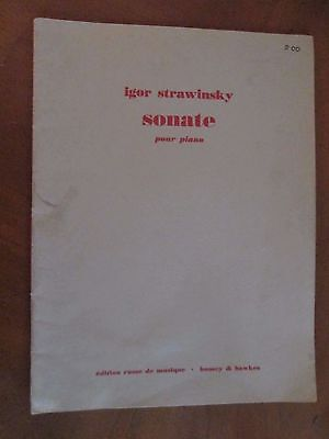 SONATE POUR PIANO  by Igor Stravinsky 1925 Boosey & Hawkes music