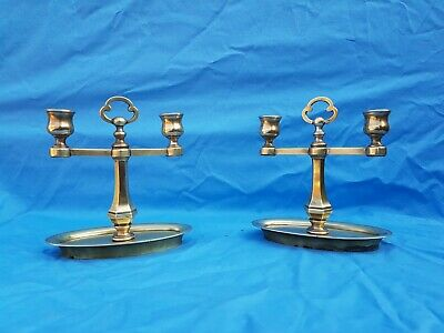Antique French: bronze candlestick/sconces pair from the late 19th century