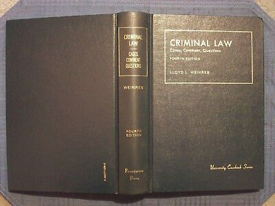 Book University Casebook Series Criminal Law Lloyd Weinreb 1986 The Foundation P