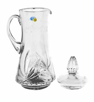 Russian Cut Crystal Carafe Decanter Pitcher 50 oz