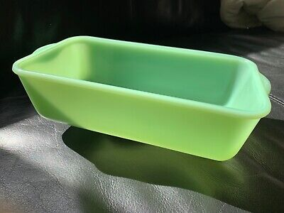 1940's Fire-King Jadeite 9x5 Loaf / Bread Pan - Restaurant Ware OVEN GLASS
