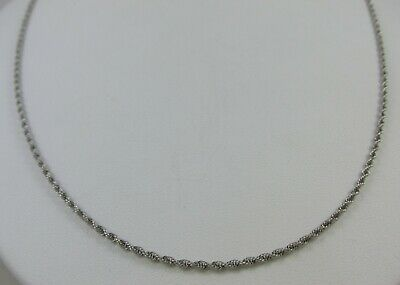 """14Kt White Gold 24"""" Braided Rope 1.75Mm Chain Necklace Great W/ Pendant Or Alone"""