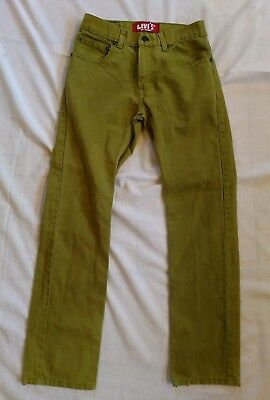 levis 511 green mens/youth/boys jeans waist 27 Inseam 27 skinny straight 2D