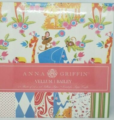 "ANNA GRIFFIN - 12"" x 12"" VELLUM Pad - BAILEY - 18 Sheets"