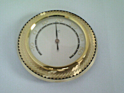 Antique Vintage 1950s Thermometer, Brass scale silver plated 3.54 inch, Celsius