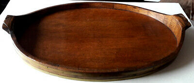 Large oak Arts and Crafts serving tray