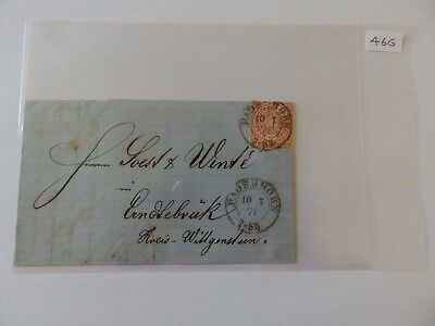 (46G) - 1871 North German Federation Cover with Paderborn Cancel