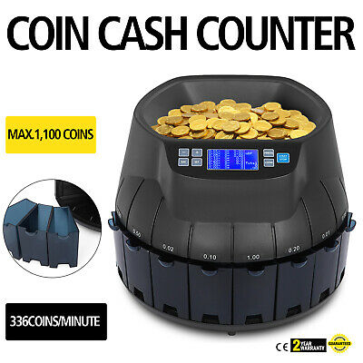 Electronic Coin Sorting Machine Currency Counter Counting Sorter LCD Printable