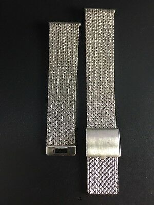 "Bracelet Watch Milanesa/Mesh Reloj Racing 20Mm Acero ""Nos 1970"""