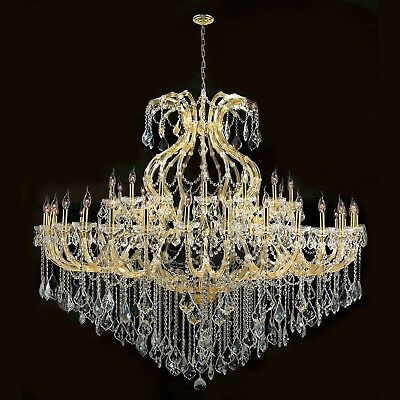 "Maria Theresa Chandelier, W72""x H60"", L49,Gold Finish, Clear Crystal"
