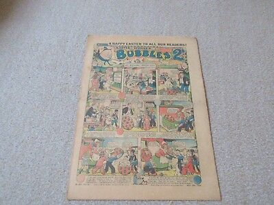 BUBBLES   COMIC - good condition No 887, April 16th 1938- Easter Issue