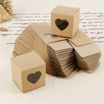 50Pcs Kraft Paper Chocolate Gift Boxes Baby Shower Wedding Party Favours Decor