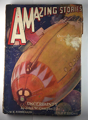 AMAZING STORIES October 1936 Issue Vintage Science Fiction Pulp Magazine
