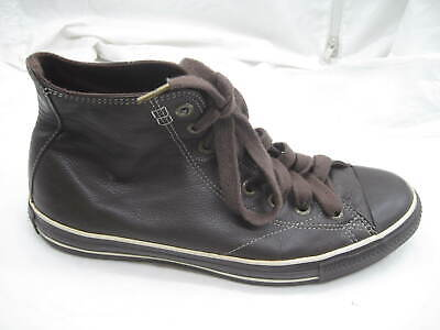 b5c8128191a6 Converse brown leather high top sneakers mens casual shoes sz 9.5M Womens  11.5M