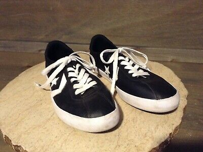 Converse One Star Shoes Sneaker Black White Girls Size 5 Juniors
