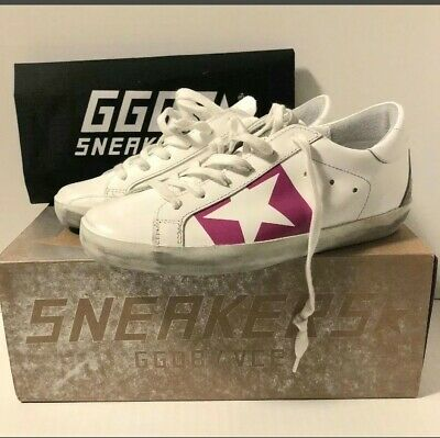 a2fc6eb78 Golden Goose Superstar White & Pink Leather Sneakers Shoes Breast Cancer  Aware36