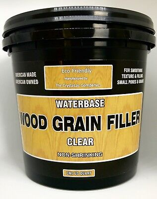 CrystaLac Clear Wood Grain/Pore Filler Water Clean-Up & Eco Friendly