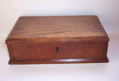 Antique Furniture Boxes/chests Antique Vintage Oak Large Trinket Box Arts And Crafts With Vacant Shield Sale