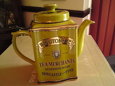 Ringtons Heritage Collectable Teapot In Olive Green/Gold. Vgc,