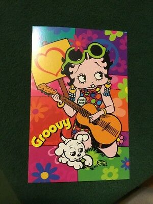 Lenticular Betty Boop Spiral 3D Hippy Guitar Notebook 4x6in 144 Page #BB-207-NB#
