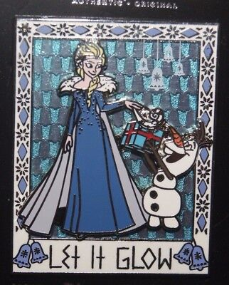 Disney Parks Holidays 2017 Frozen Elsa and Olaf Let It Glow Pin Christmas