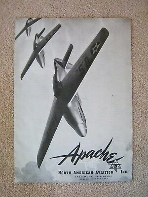 Vintage 1941 WWII North American Aviation Apache Fighter Aircraft Print Ad
