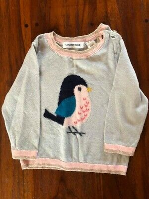 Country Road Baby Girl Fine Knit Jumper Size 000