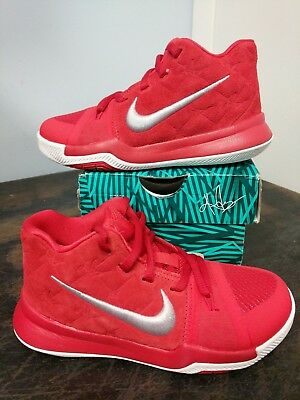 big sale a550b 1a778 New Nike Kyrie Irving 3 GS Youth Size 12.0 Basketball Shoes 859466 601 Red  White