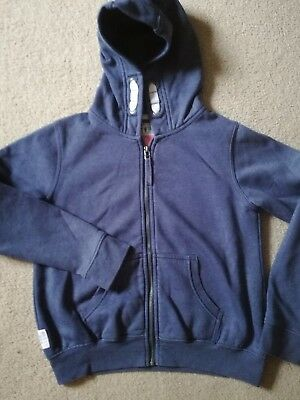 NEXT Childs Zip Front Hooded Jacket Sweatshirt Blue Age 12