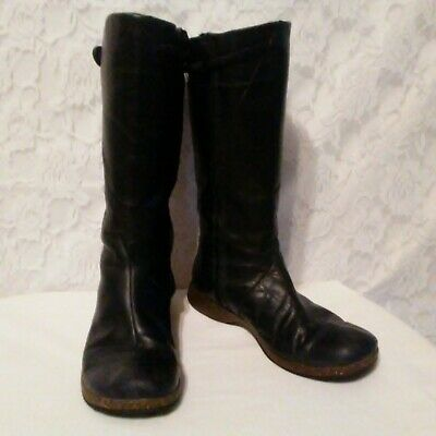 7930aed0bbb2 Teva Boots Womens sz 6.5 Black Leather 4027 Montecito Tall Side Zip  Waterproof