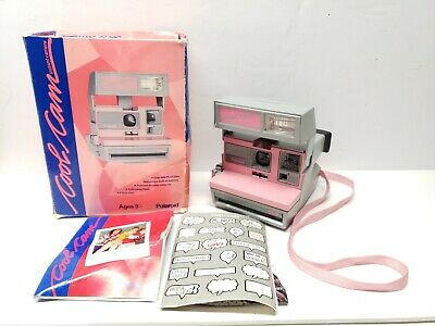POLAROID 600 PINK & Grey Cool Cam Instant Film Camera with Original Box  Tested