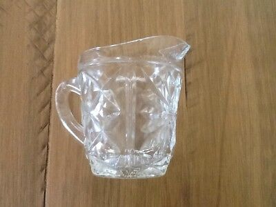Vintage glass Jug, Free UK P&P