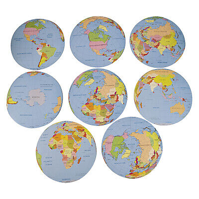 8 Large Globe Cutouts Fun Classroom Visual Aid Decor Learning World Geography BF