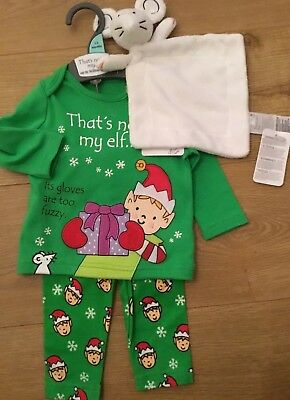 Mothercare Age 1-3 Months That's Not My ELF Christmas Pyjamas & Comforter