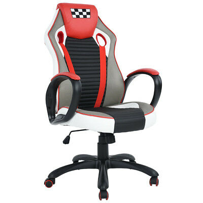 Racing Style Leather Gaming Chair Ergonomic Swivel Computer Office Gaming Chair